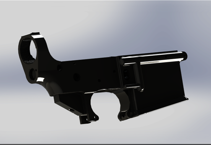 M16 lower receiver | 3D CAD Model Library | GrabCAD