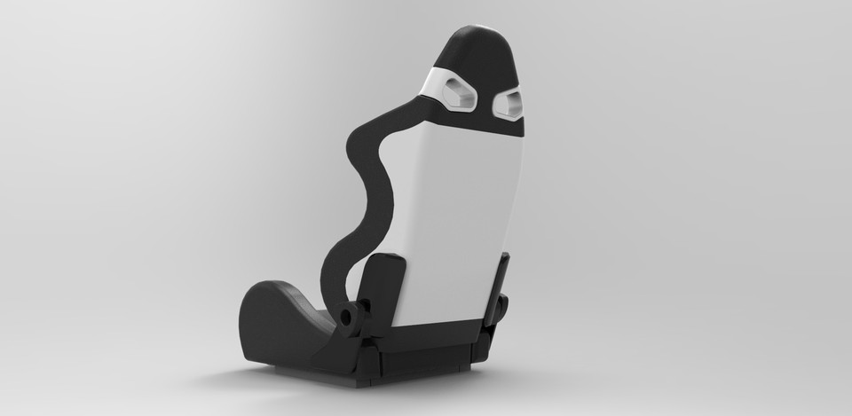 bride style sparco race car seat | 3D CAD Model Library