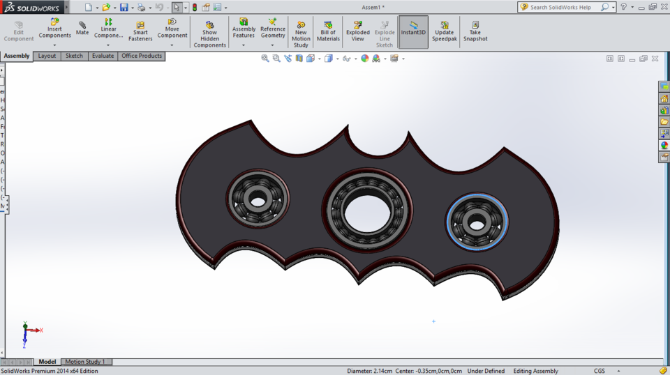 Batman Model Spinner3d Grabcad Fidget Cad Library BCxoeWQdr