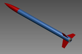 Ariel Hi-power rocket with Aerotech engine
