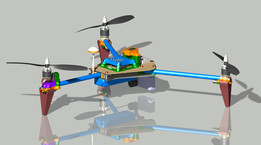 Tricopter - 660mm - CFRP & RP printed