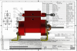 Cylinder for Horizontal Twin Steam Engines
