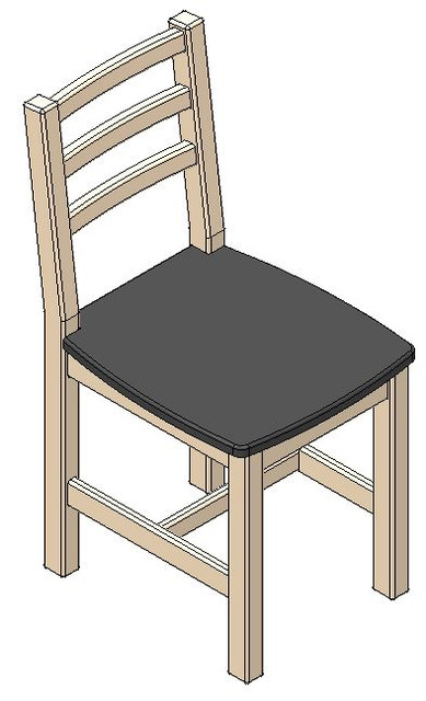 Fabulous Diy Wooden Chair 3D Cad Model Library Grabcad Download Free Architecture Designs Scobabritishbridgeorg