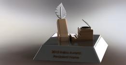 Italics Award Trophy 1st design