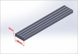 Aluminium profiles 45x180 Industrial Profile