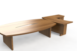 Office work-top with conference table