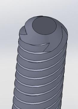 ACME lead screw, 8mm dia.