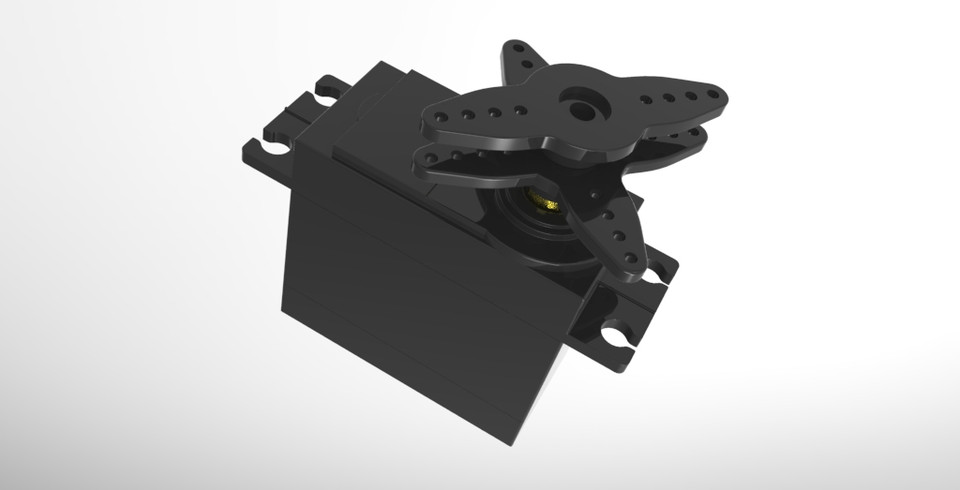 Metal Gear High Torque Servo Motor | 3D CAD Model Library