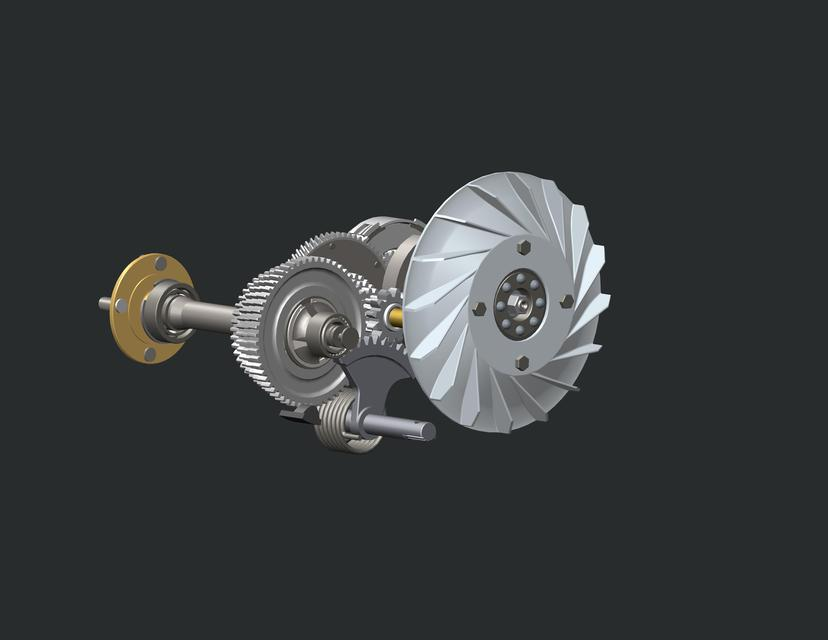 BAJAJ SCOOTER GEARBOX ASSEMBLY | 3D CAD Model Library | GrabCAD