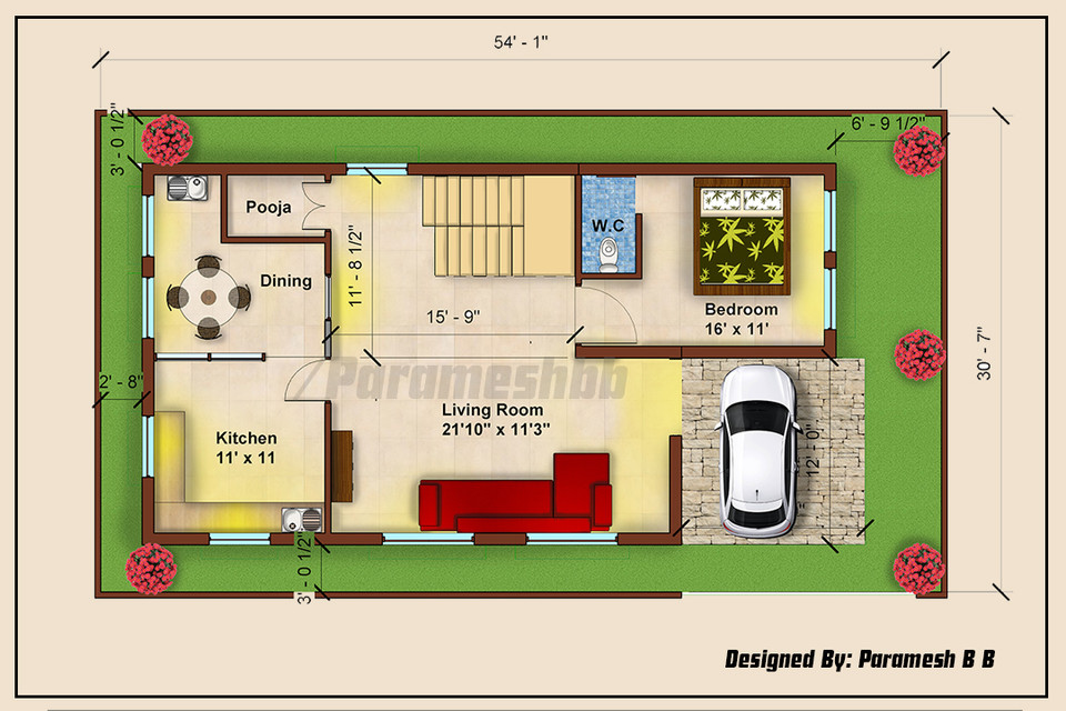 Rendered Floor Plan 3d Cad Model Library Grabcad