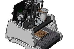 3-axis desktop cnc machining(concept model)