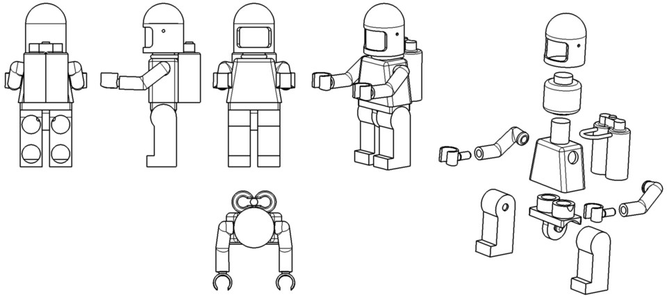 LEGO Man | 3D CAD Model Library | GrabCAD