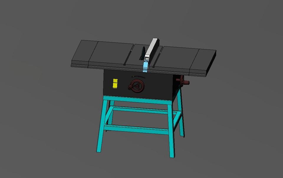 Table saw 3d cad model grabcad for Table design 3d model