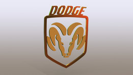 Simple DODGE logo car