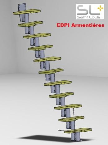 Escalier pas d cal s stl solidworks other 3d cad model grabcad - Escalier a pas decales ...
