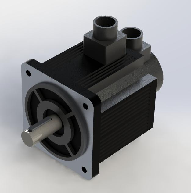 Servo motor mige 130st m05025 step iges 3d cad model for Industrial servo motor tutorial