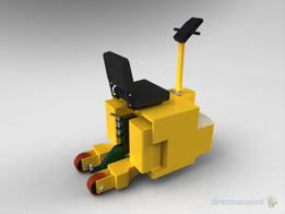 Electric tractor vehicle