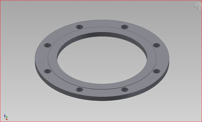 Pipe flange table d autodesk inventor stl 3d cad for Table e flange