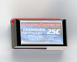 1350 mAh 4S 14.8V 25C LiPo