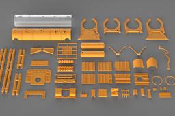 Aurora SeaLab III Studio Scale Kit Parts