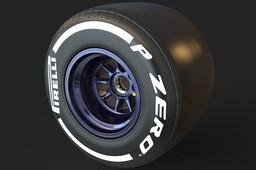 F1 2017 Pirelli PZero Tire Dry Track 405/670-13 (Rear)