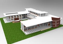 学生福利中心三维模型
