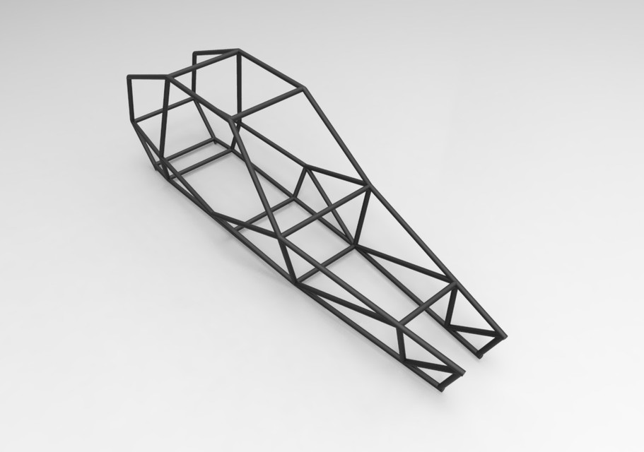 One Seat Off Road Buggy Frame | 3D CAD Model Library | GrabCAD