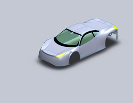 surface modelling of ferrari 458 with afew modifiction  by mahmoud hassan