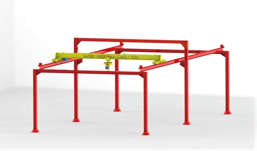 Overhead Crane 1 Ton 3d Cad Model Library Grabcad