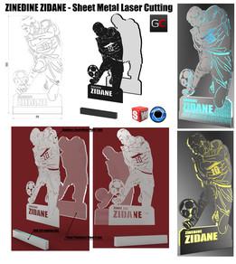 Zinedine Zidane - Sheet Metal Artwork