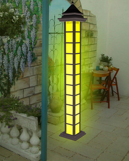 Garden light column
