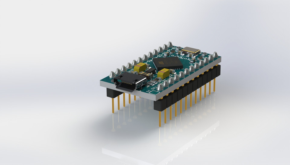 Arduino Pro-Micro   3D CAD Model Library   GrabCAD