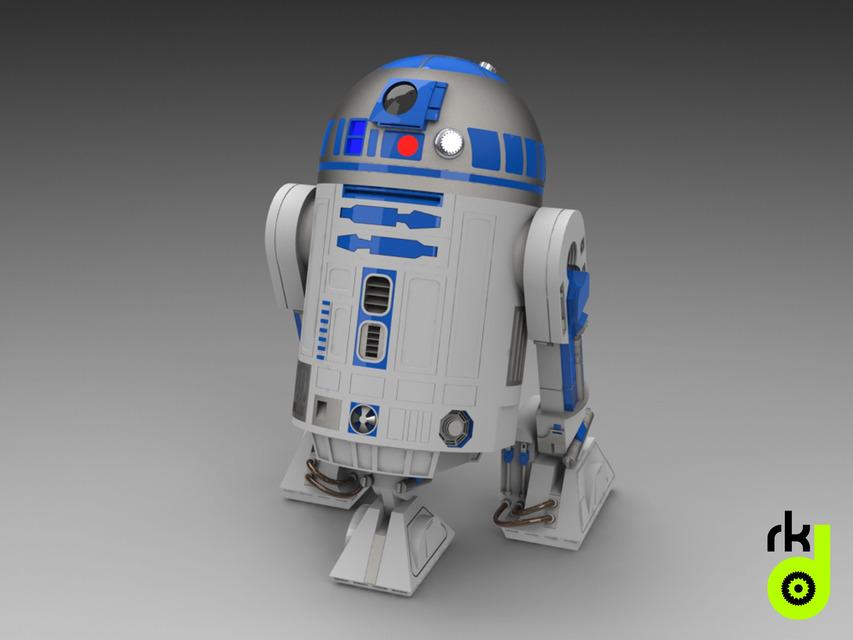 R2D2 | 3D CAD Model Library | GrabCAD