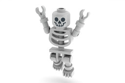 Lego Set 4072-1 Skeleton Minifigure