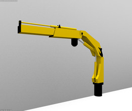 Low Poly Foldable Knuckle  Crane