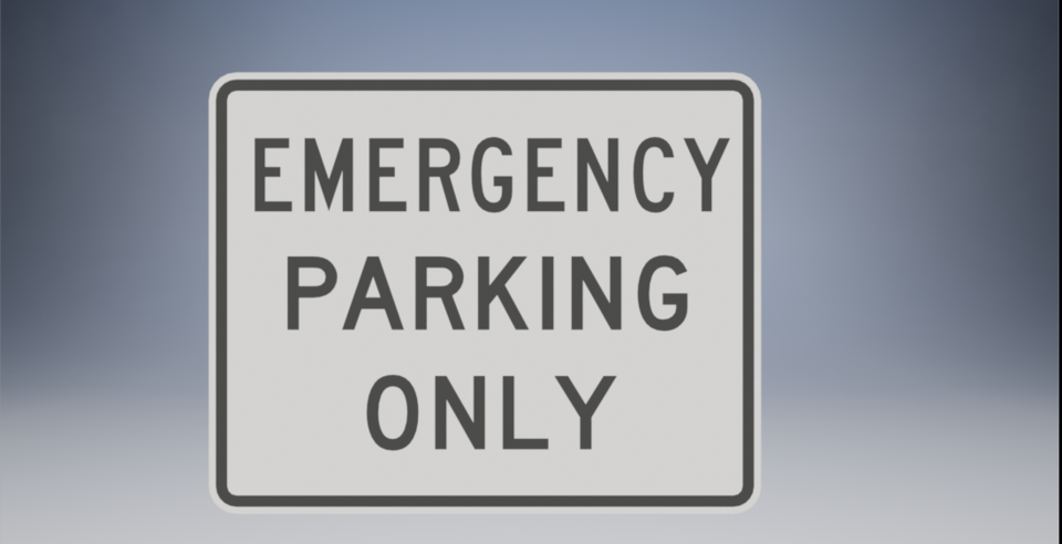 Emergency Parking Only R8-4/Emergency Stopping Only R8-7