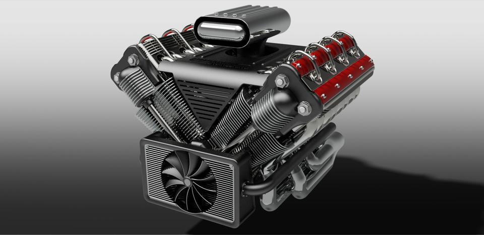 v8 engine 3d cad model library grabcad. Black Bedroom Furniture Sets. Home Design Ideas