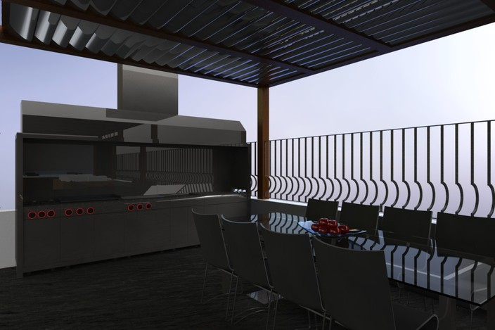 Outdoor kitchen - SolidWorks, Other - 3D CAD model - GrabCAD