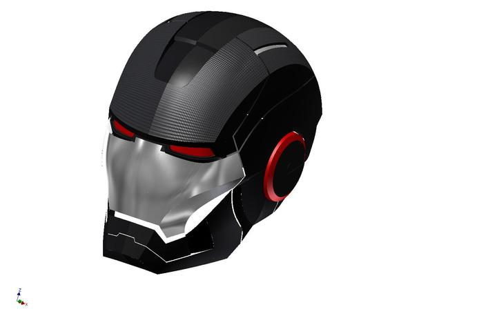 Iron Man Helmet 3d Model Iron Man Helmet Autodesk