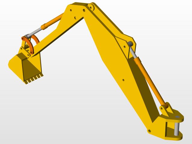 jcb backhoe   3D CAD Model Library   GrabCAD