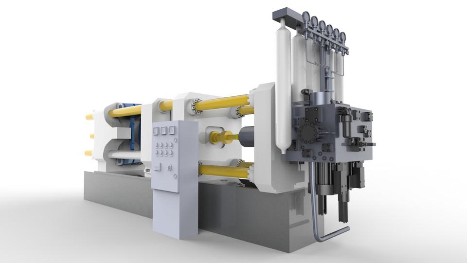 High Pressure Die Casting Machine (Renders only) | 3D CAD