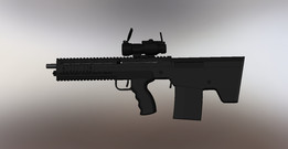 Bullpup Rifle Prototype 7.62x54r