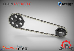 Motor Cycle Engine Internal Setup - Chain Assembly