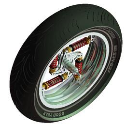 Inside shock wheel whit new tire