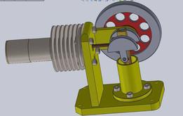 Horizontal Stirling Motor