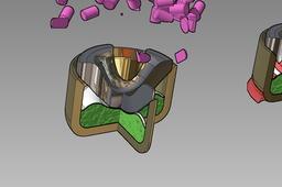 9mm boxer anvil sealer primer mix cup explosive compound, braz, Autodesk Inventor & Fusion 2013