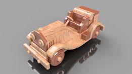 Wooden Sports Car