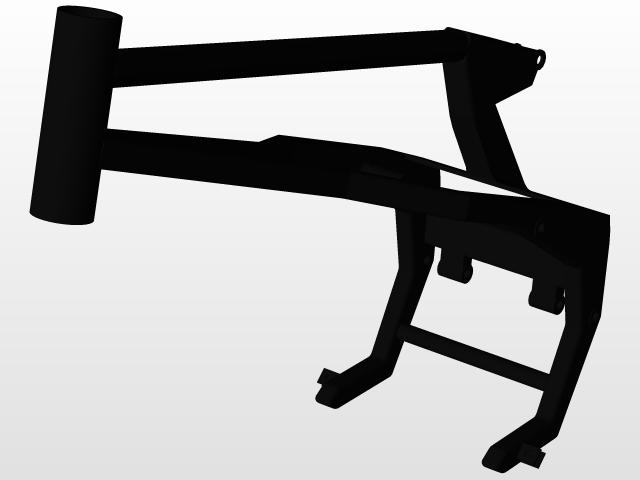 Pit bike frame FRR | 3D CAD Model Library | GrabCAD