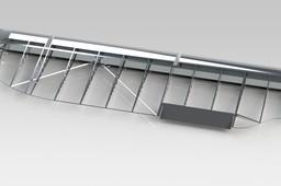 C47 Elevator in polished Aluminum
