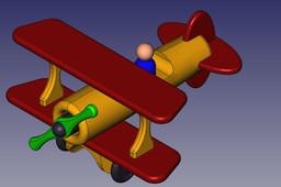 Fat Biplane (Wooden Kids Toy)
